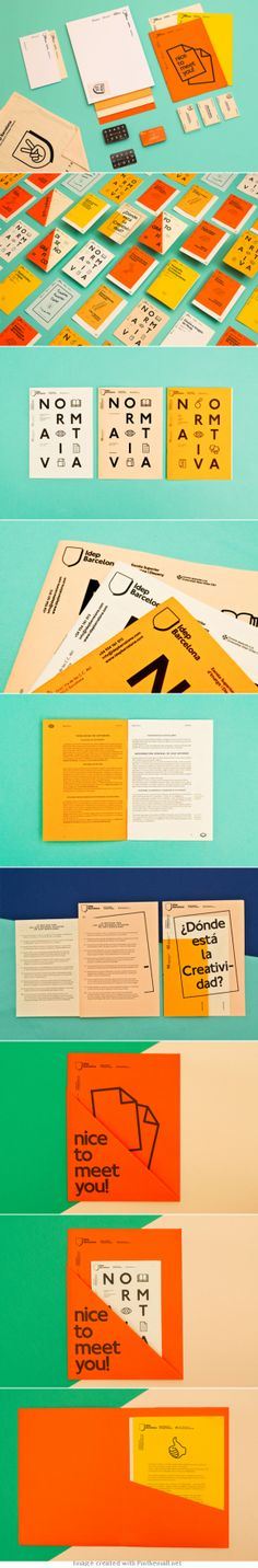 IDEP BARCELONA - Identity and a series of brochures for the University of Barcelona. Design by Querida.