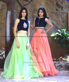 This summer romance fills the air with pretty pista green  paired with peechish tones. <br> call / watsapp : +918179668098 They can customize the colors and size as requested.