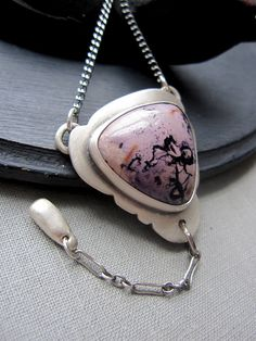Lavender Shadow Necklace Sterling Silver by KellyBaldwinDesign