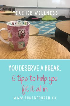 Do you have more than you can handle in your classroom and no time to take a break? Time Management can be a nightmare for teachers! Check out this blog post with 6 tips to help you get it all done in the classroom. #TimeManagement #TeacherTips