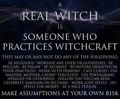 I am a witch. I am also an eclectic Wiccan, I do not conform to one form of Wicca. Wiccan Witch, Wicca Witchcraft, Real Witches, Traditional Witchcraft, Which Witch, Eclectic Witch, Season Of The Witch, Practical Magic, Spiritual Path