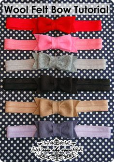 Baby Felt Bow Headband Tutorial