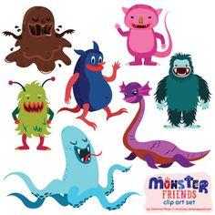 Monster Friends Clip Art Set