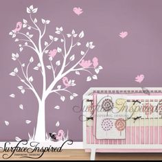 Little girls nursery room  could be done with grey black and pink