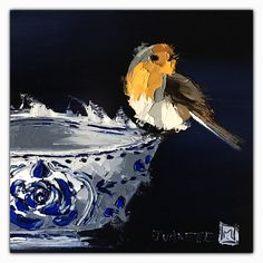 Delft collection 2 Oil impasto on board  By Juanette Menderoi