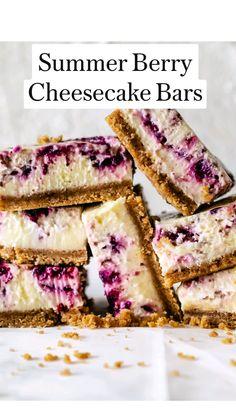 Food Cakes, Cupcake Cakes, Bundt Cakes, Blueberry Recipes, Blackberry Dessert Recipes, Easy Blueberry Desserts, Healthy Cheesecake Recipes, Raspberry Desserts, Best Dessert Recipes