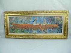 framed picture Paint Renoir Seine At Asnieres The Skiff repro bonanza $89.99 YamisAtticTreasures