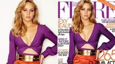 Canadian fashion magazine Flare has come under fire for altering Jennifer Lawrence's body shape with the Hunger Games star appearing noticeably thinner on a cover image from 2011