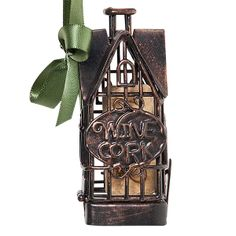 House Cork Cage Bottle Ornament Cherish a special moment by storing a memorable wine cork in our new Cork Cage® Ornaments!