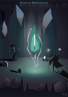 Espada de Mordenkainen (Mordenkainen's Sword) by Felipe Code - codesign.felipe@outlook.com   https://www.behance.net/felipecode