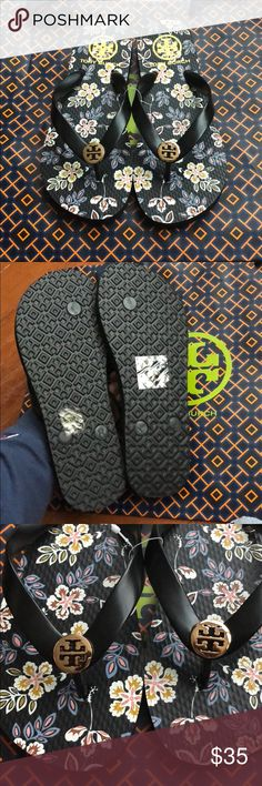Tory Burch Flip Flops Brand new, never worn! Just bought the wrong size Tory Burch Shoes Sandals