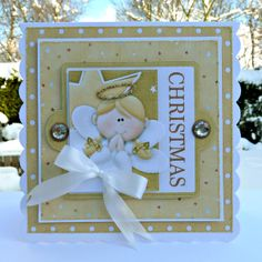 Cute Christmas Angel card. The gold background papers really give it an angelic feel! FQB - Nitwitivity Collection from Nitwit Collections™