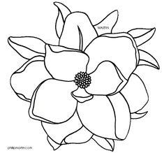 Magnolia Flower Clip Art Louisiana state flower -