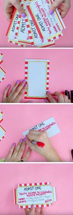 Movie Ticket   19 DIY Movie Night Ideas for Teens that will get the party started!