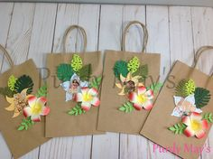 Moana Goodie Bags, Moana Treat Bags, Maui Goodie Bags, Hei Hei Goodie Bags, Pua Goodie Bags,  Karamora Goodie Bags, Moana Birthday Party by PurdyMays on Etsy https://www.etsy.com/listing/552643861/moana-goodie-bags-moana-treat-bags-maui