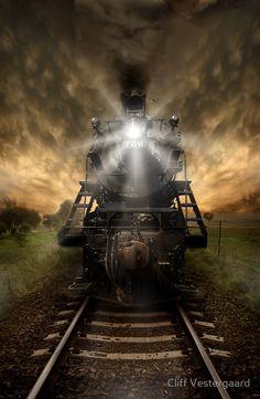 "Trens e Locomotivas by Daniel Alho / ""Night Train"" ..rh"