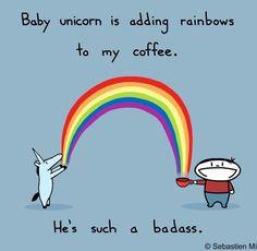 Baby unicorn = badass