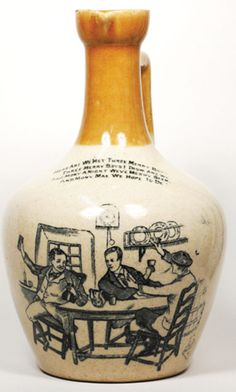 Beer Bottles, Glass Bottles, Whisky Club, Antique Bottles, Crock, Liquor, Stoneware, Whiskey, Pottery