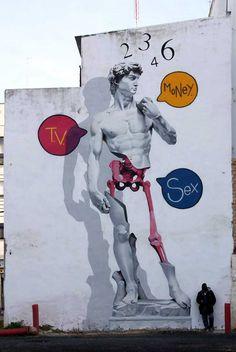 Man o Matic street art: David, Huelva, 2015