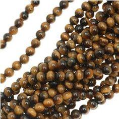 Tiger Tigers Eye Gem Round 6-6.5mm Beads/15.5 (Brown & Gold) by UnCommon Artistry, http://www.amazon.com/dp/B000SN9QY0/ref=cm_sw_r_pi_dp_mQ7esb0TABRGP