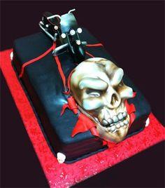 Skull / Motorbike Cake