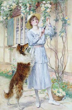 Picking Roses ~ William Henry Margetson  ~ (British 1861-1940)