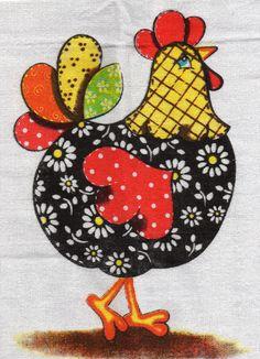 Free Applique Patterns, Quilt Block Patterns, Applique Quilts, Quilt Blocks, Sewing Art, Sewing Crafts, Sewing Projects, Chicken Crafts, Chicken Art