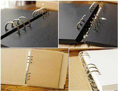 Blank Kraft Hardcover DIY Scrapbook Photo Album 6-ring