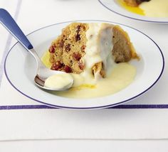 A super-speedy fruit sponge that's cooked in the microwave and ready in just 10 minutes - serve with hot custard or golden syrup