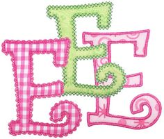 See It All :: Curlz Three Applique Alphabets - Embroidery Boutique