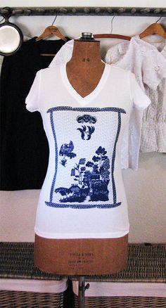 blue willow tshirt