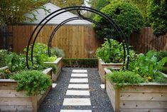 Raised Vegetable Garden Beds Can Be A Great Gardening Option Garden Arch Trellis, Cedar Garden, Vegetable Garden Design, Vegetable Gardening, Kitchen Gardening, Small Backyard Landscaping, Landscaping Ideas, Garden In The Woods, Garden Cottage