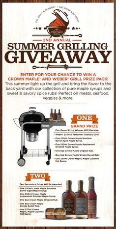 Enter for a chance to #Win The Crown Maple Summer Grilling #Giveaway !