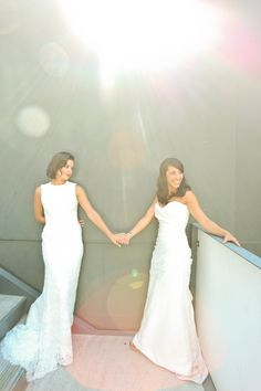 Here Come the Brides    Elegance & Sophistication    Lesbian Wedding    wearemattandjess.com