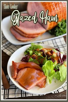 Dorothy's Slow Cooker Glazed Ham - Simple, Sweet, Scrumptious! Traditional Thanksgiving Recipes, Thanksgiving Dinner Recipes, Vegetarian Thanksgiving, Thanksgiving Side Dishes, Healthy Crockpot Recipes, Meat Recipes, Seafood Recipes, Slow Cooker Recipes, Chicken Recipes