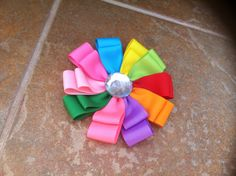 Girl Scout Daisy Hair Bow /brooch combo on Etsy, $7.00