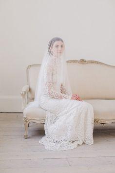 Clarence - blusher down veil