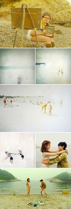 real art for a fictitious world. / sfgirlbybay *stills from moonrise kingdom, paintings by lisa golightly