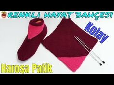 Easy Harasho Knitted Booties With Two Skewers - Harika El işleri-Hobiler Knitting Socks, Baby Knitting, Knitting Basics, Knit Baby Booties, Diy Hat, Learn How To Knit, Knitted Slippers, Moda Emo, Crochet Patterns For Beginners