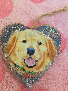 Golden Retriever puppy Adorable Christmas Glitter Ornament Great Gift by HopesSassyGlass on Etsy Wooden Christmas Ornaments, Christmas Glitter, Glitter Ornaments, Golden Retriever Gifts, Retriever Puppy, Handmade Items, Handmade Gifts, Mild Soap, Cute Puppies