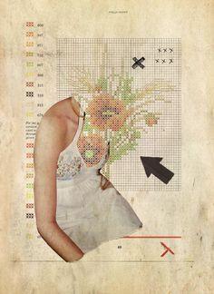 "Rhed Fawell - ""Field Poppy"" - Collage 2015"