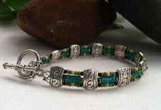 Men's Genuine Turquoise bracelet. $99 <click now to buy> from http://www.etsty.com/shop/stefanifixcollection