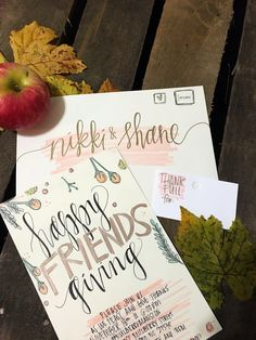 Handwritten Modern Calligraphy Wedding Invitations, Envelope Addressing, White Envelopes, Gold Ink, Color Accent