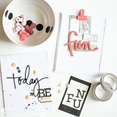 Michaels Stickers ~ Simple how to card creations using the new Heidi Swapp Sticker collection found @michaelsstores. @jamiepate for @heidiswapp