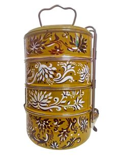 Handpainted Tiffin - Flowers