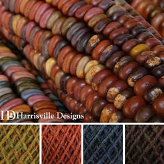 'Indian Corn' color palette featuring our WATERshed yarn in Eastview, Monarch, Cheshire, Gatehouse.