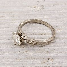 antique engagement ring.