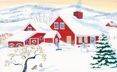 Red Farm Advent Calendar By Anne Kilham *** Details can be found by clicking on the image.