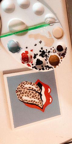 Love the Cheetah Print! Art Deco Paintings, Cute Paintings, Canvas Paintings, Small Canvas Art, Mini Canvas Art, Diy Painting, Painting & Drawing, Painting Inspiration, Art Inspo
