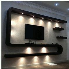 best tv wall living room ideas decor on a budget 2020 16 ~ IRMA Lcd Wall Design, House Ceiling Design, Ceiling Design Living Room, Home Room Design, Tv Unit Interior Design, Tv Unit Furniture Design, Tv Unit Decor, Tv Wall Decor, Modern Tv Wall Units